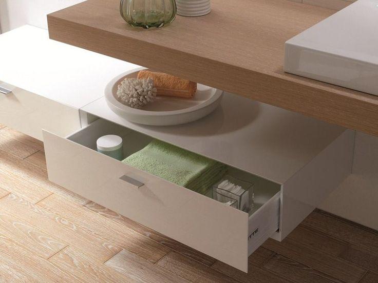 Mobile bagno basso sospeso con cassetti BETTEROOM SCHUBLADE by Bette design Schmiddem Design