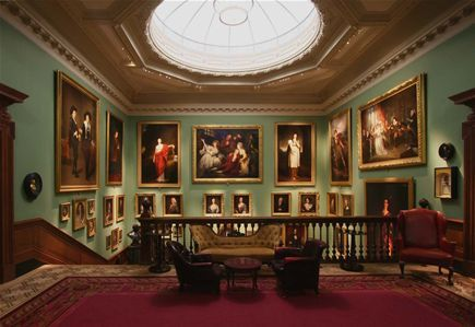 Fibre optic lighting by Absolute Action at The Garrick Club in London transforms the impressive array of painting lining the walls of the main staircase from a bland experience to a breathtaking one.
