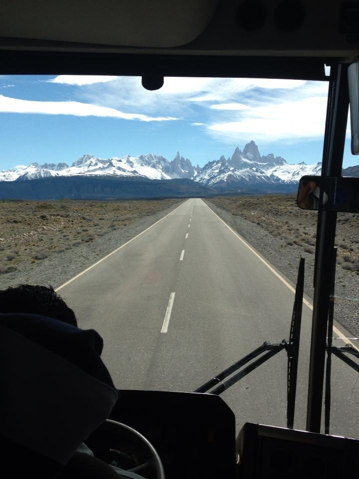 On ruta 40 in bus to El Chalten, Argentina  by Mirella Mels