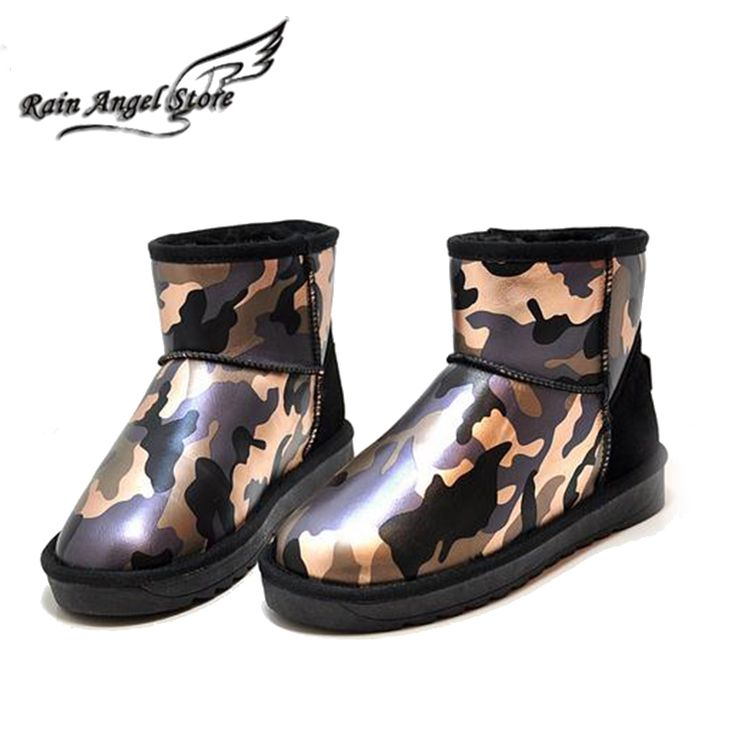 (32.81$)  Watch more here  - Ladies Winter Boots 2015 New Camouflage Snow Boots Waterproof Fashion Warm Low Boots Shoes Mixed Colors Size35-39