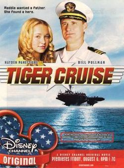"""'Tiger Cruise' is the 54th [DCOM]. It stars Hayden Panettiere and Bill Pullman. The film's fictional events are intertwined with the real-life events of the [9-11] attacks. This is one of only two films to date in which both Panettiere and her real-life younger brother Jansen appear, the other being 'The Forger'.... Tiger Cruise is one of only two [DCOMs] to receive a TV-PG rating and a ""Viewer discretion"" warning, due to intense and/or disturbing scenes and/or images."""