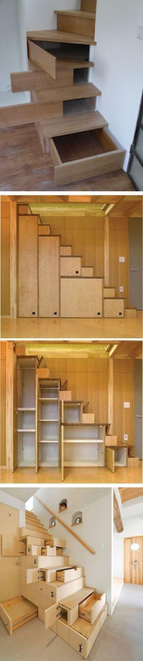 (21) Hidden Storage In Stairs - http://www.stashvault.com/hidden-storage-in-stairs-2/   STORAGE