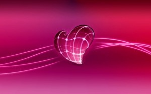 3D Love Heart HD Wallpaper