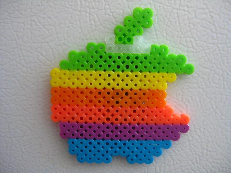 Perler bead Apple Logo by Slimer530 on deviantart