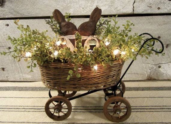 Lighted Easter Carriage
