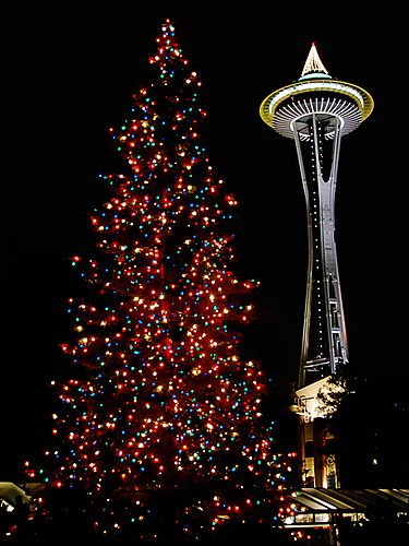 Space Needle @ Christmas time!