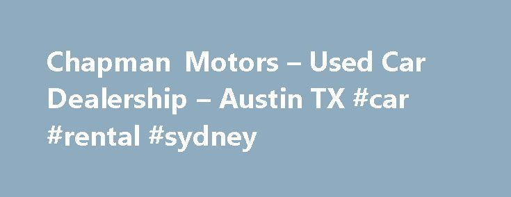 Used Cars Dealers No Money Down Bad Credit Austin Tx