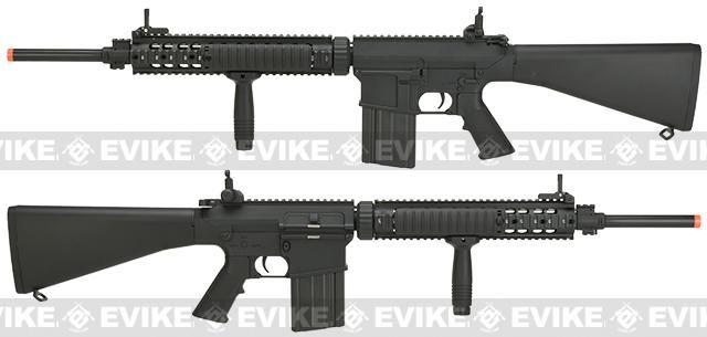 A&K Full Metal Fixed Stock SR-25 Airsoft AEG Rifle
