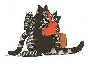 kliban cats   Judith Kliban, traveling cat