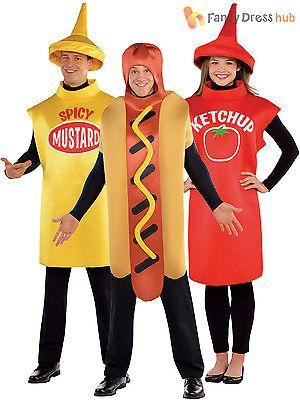 Adults american food costume hot dog #sauce fancy #dress mens ladies #outfit, View more on the LINK: http://www.zeppy.io/product/gb/2/181992820407/