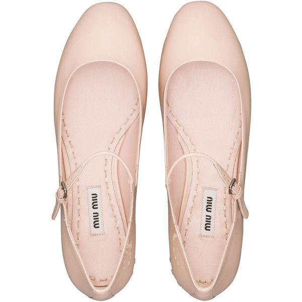 Miu Miu Ballerinas ($590) ❤ liked on Polyvore