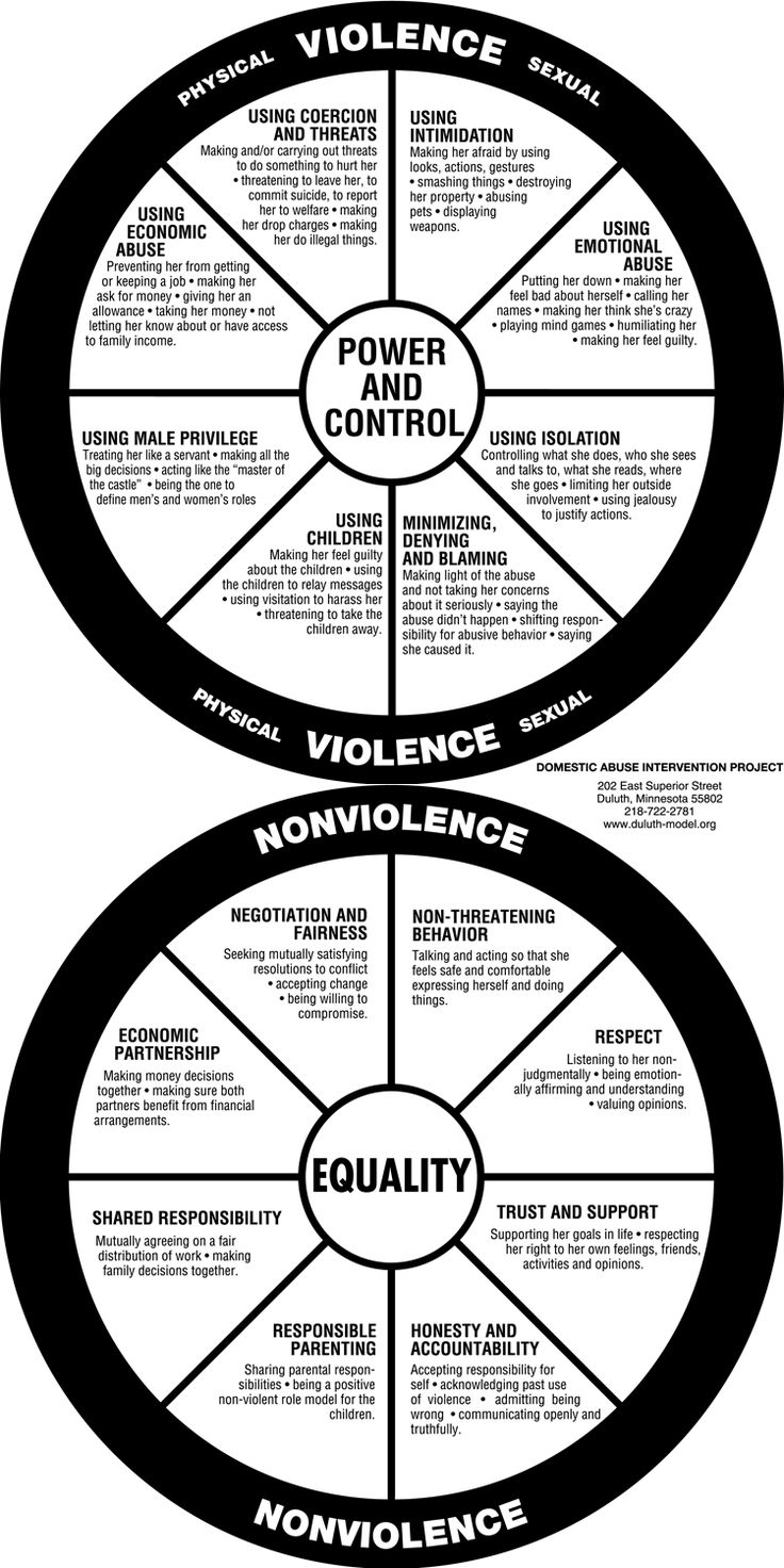 Violence and Nonviolence wheels