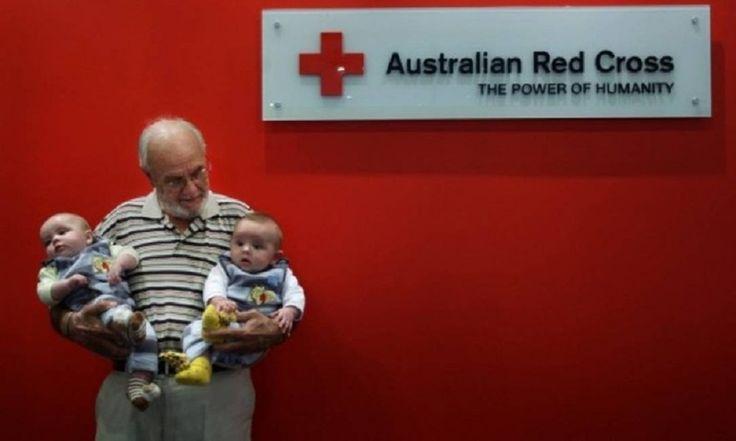 Australiano pode ter salvo cerca de 2 milhões de bebês com doações de seu sangue
