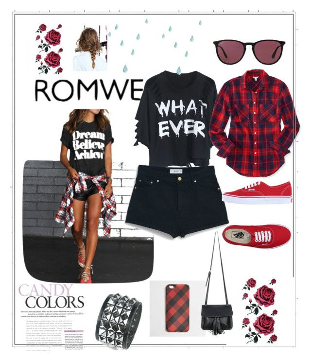 """ROME Contest 3"" by arijana-cehic ❤ liked on Polyvore featuring MANGO, Vans, Aéropostale, Ray-Ban, J.Crew and Chicnova Fashion"
