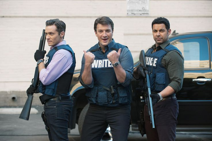 Seamus, Nathan and Jon BTS of Castle