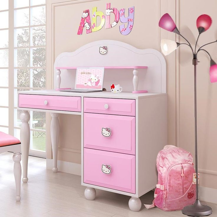 1000 ideas about hello kitty bedroom set on pinterest hello kitty hello kitty bedroom and for Bedroom set with matching desk