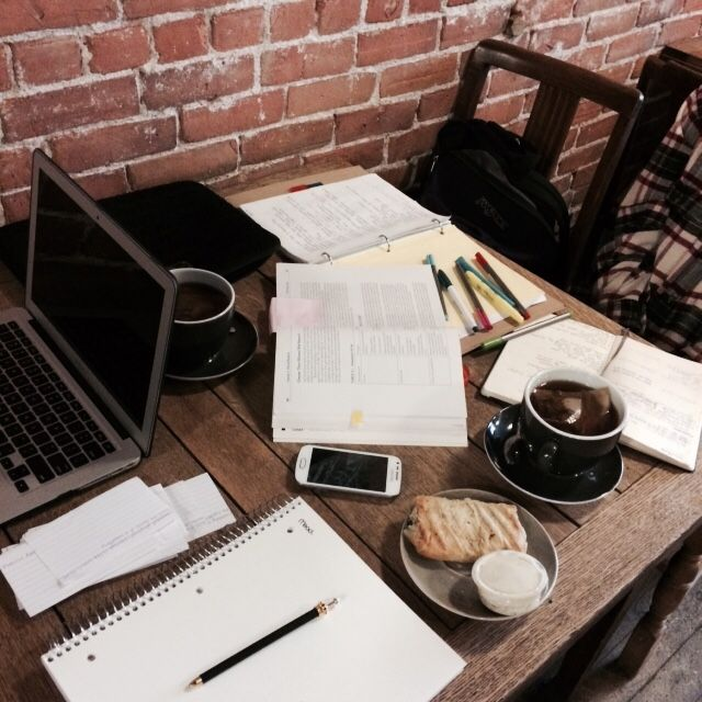 one of our favourite cafes downtown to do a little end-of-the-week study session