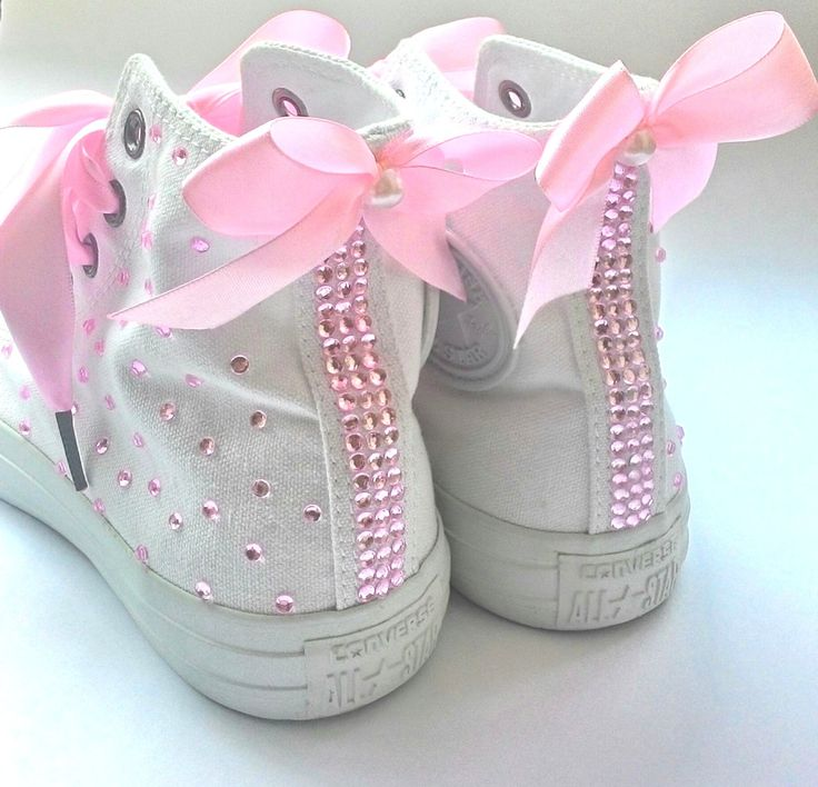 blinged out baby converse
