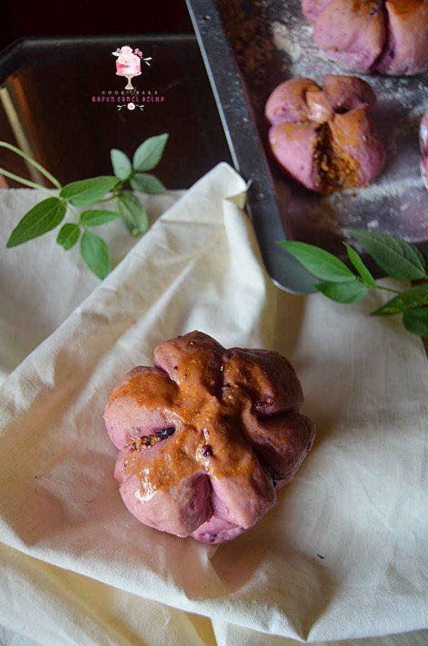 Dapur Comel Selma: Roti Sobek, Roti Bunga dan Donat Ubi Ungu