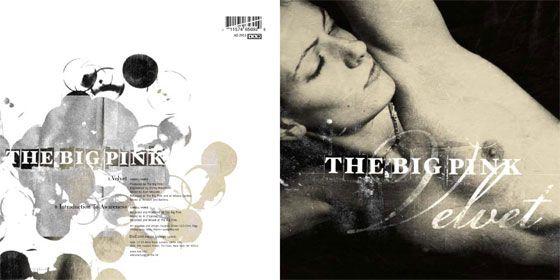 """Image by Marc Atkins. The Big Pink 7"""" vinyl. Design by Vaughan Oliver at v23. Design assistance Chris Bigg."""