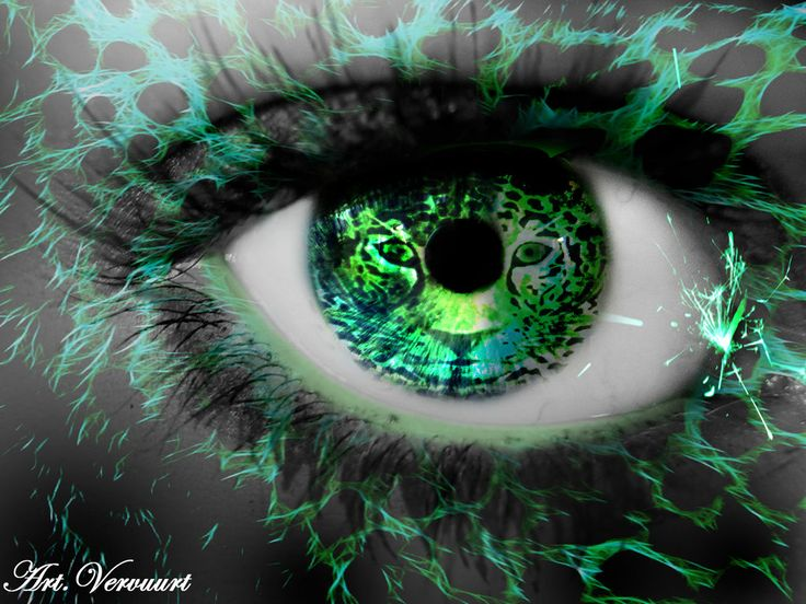 Green tiger eyes - photo#18