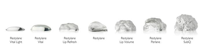 Restylane er en serie behandlinger med hyaluronsyre, tilpasset hudtype og behov. Les mer her: http://restylanenorge.no/om-hyaluronsyre/