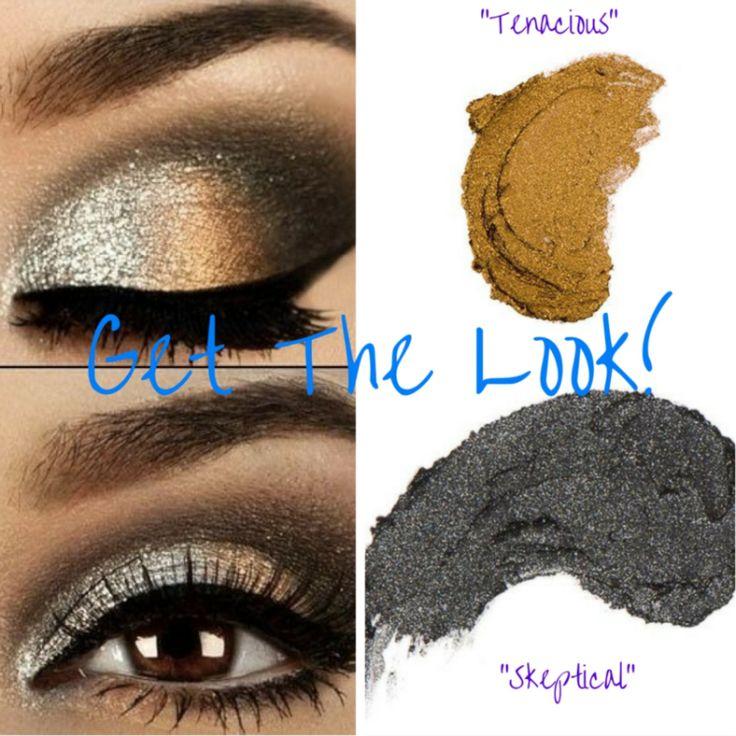 Splurge Cream Eye Shadow using Skeptical and Tenacious. Gorgeous!!