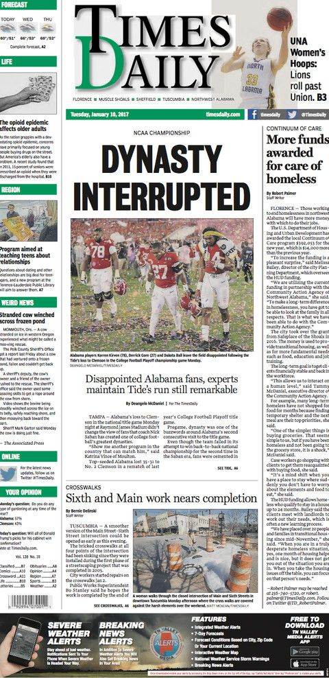 14 newspaper front pages from Clemson's National Championship win over Alabama - SBNation.com
