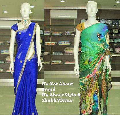 Peacock printed saree by SV