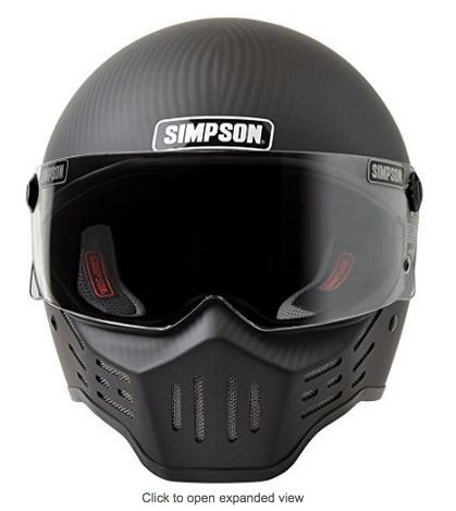 Simpson M30 Bandit Carbon Fiber Motorcycle Helmet - If I could date a helmet, this would be it.