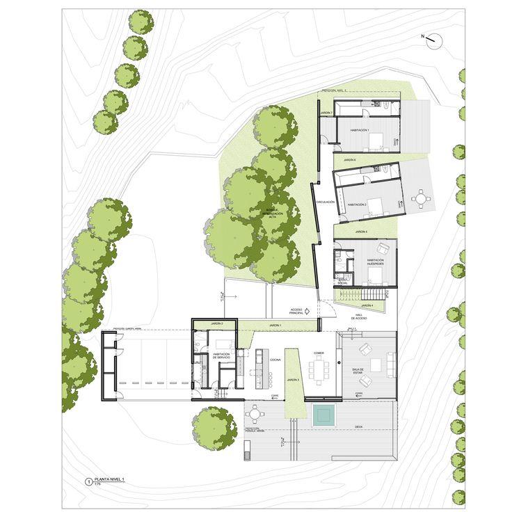 Imagen 36 de 48 de la galería de Casa entre Jardines / Planta Baja Estudio + Lightcube. Planta Primer Piso