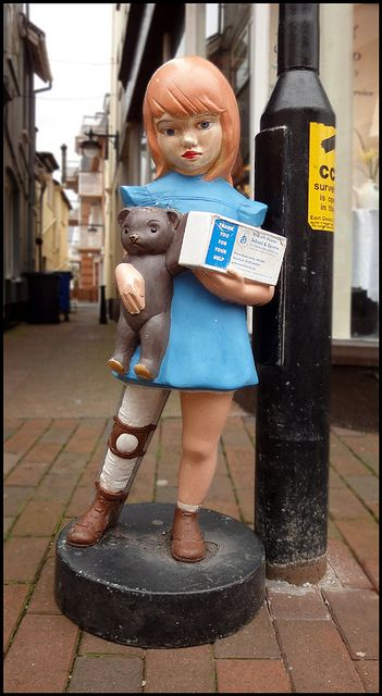 Not quite the same as the one I coveted  outside the fabric shop......Charity (original size) in Sidmouth by Philip Watson, via Flickr