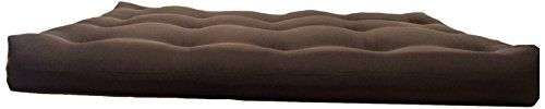 Artiva USA Home Deluxe 8-Inch Futon Sofa Mattress Made in US Best Quality, Full, Solid, Espresso/ Brown
