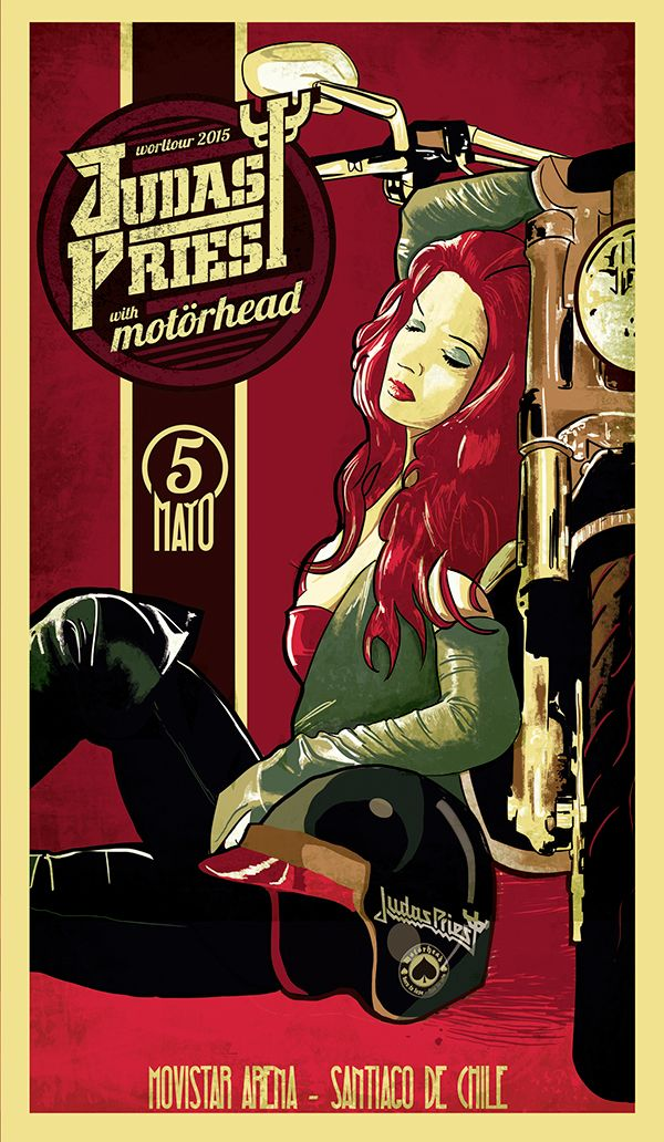 Double Gig Poster for Judas Priest and Motorhead - Jofre Conjota on Behance