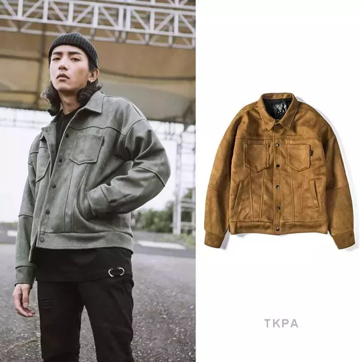 Tkpa Men Motorbike Jackets Suede Leather Vintage Clothing Streetwear Jacket Hip Hop Style Casual Loose Coats Official Jackets Denim Jacket With White Fur Collar From Vogueapparel, $79.33| Dhgate.Com