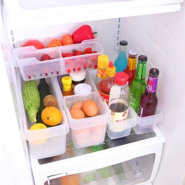 Trasparente scatola di conservazione degli alimenti frigorifero contenitore frutta e verdura cucina frigorifero spuntino orangize - Banggood mobile