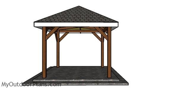 10x10 Gazebo Hip Roof Plans Myoutdoorplans Free Woodworking Plans And Projects Diy Shed Wooden Playhouse Pergola Bbq In 2020 10x10 Gazebo Gazebo Diy Gazebo