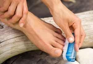 Эффективное лечение грибка ногтей ног солью 3
