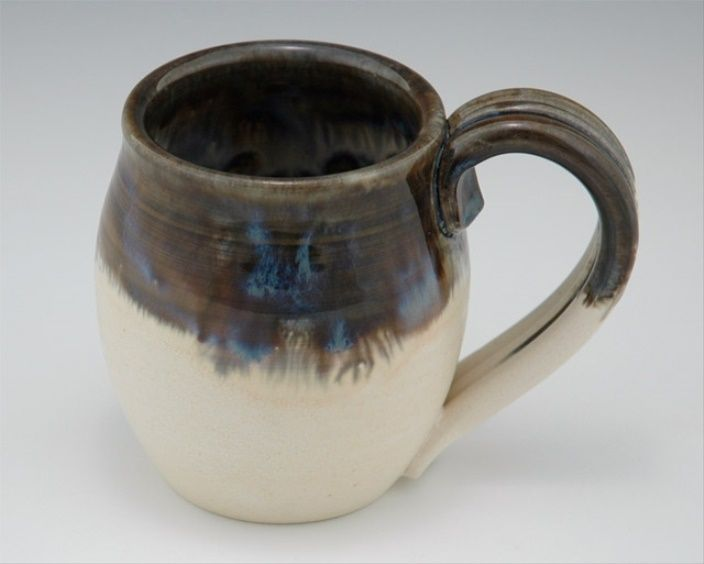 Ceramic Mug Winter Blue Glaze Cup - Handmade Pottery Wheel Thrown 2015 - 2016 http://profotolib.com/picture.php?/13240/category/494