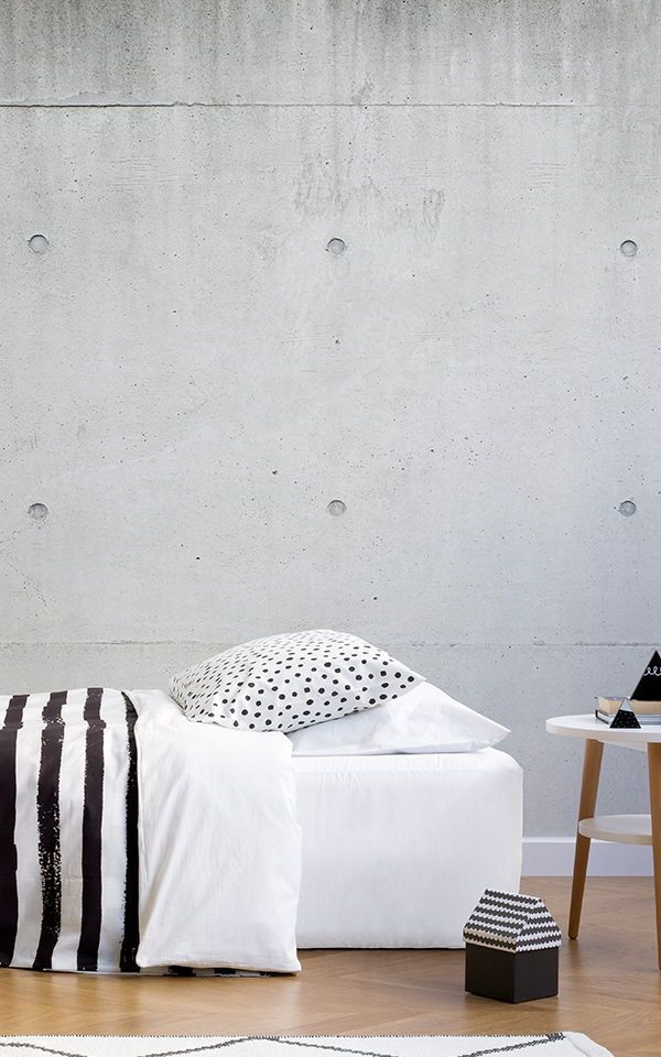 Modern Concrete Block Wallpaper Mural Murals Wallpaper In 2020 Discount Bedroom Furniture Bedroom Furniture Grey Wallpaper