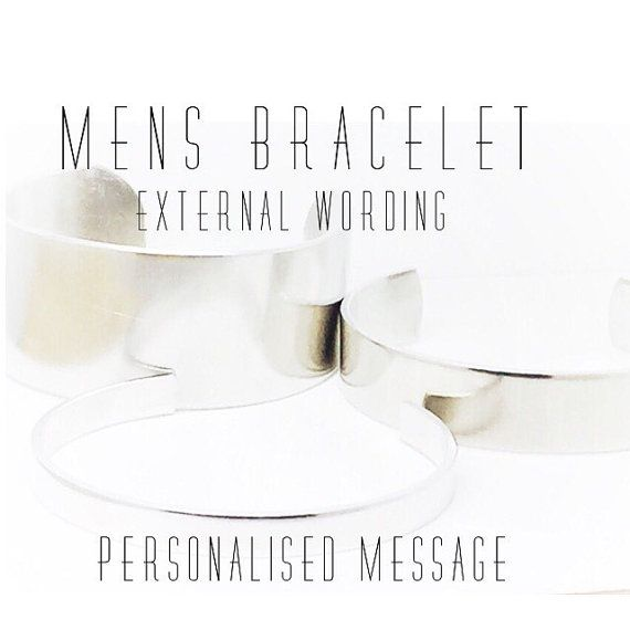 Personalised Mens Bracelet  Design your own by GlamAndCoJewellery