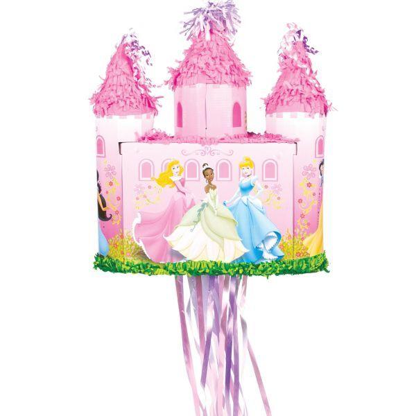Pull String Disney Princess Castle Pinata Princesses