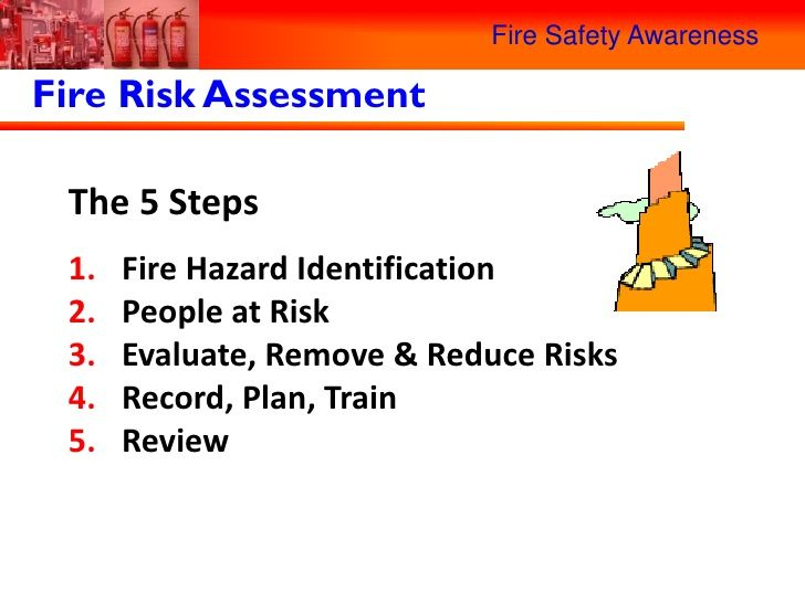 The 5 steps of fire risk assessment