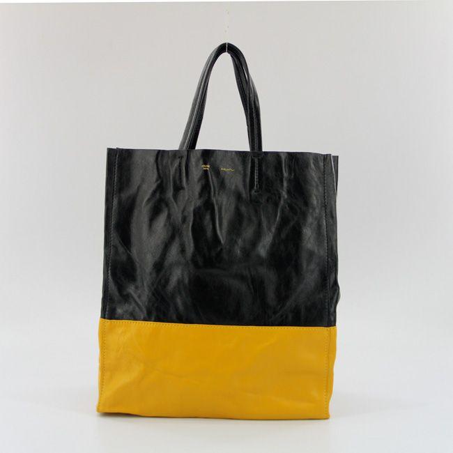 Celine Cabas Lambskin Leather Shopping Bag Black 8820       $179.00