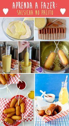 Aprenda a fazer salsicha no palito | Shopfesta