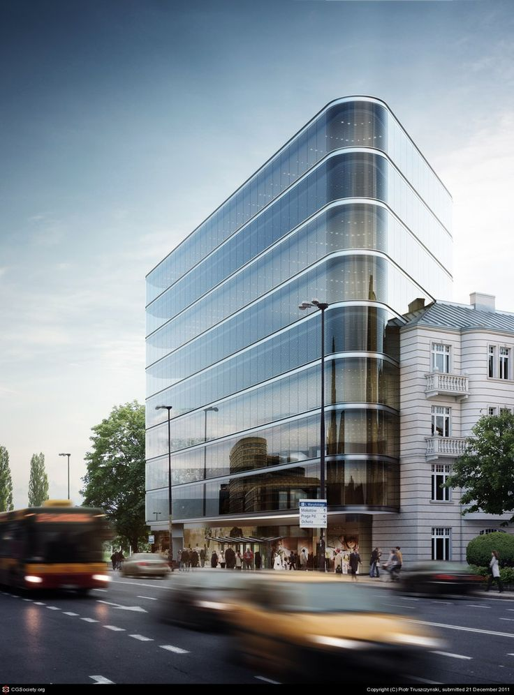 Office building in Warsaw by Piotr Truszczynski