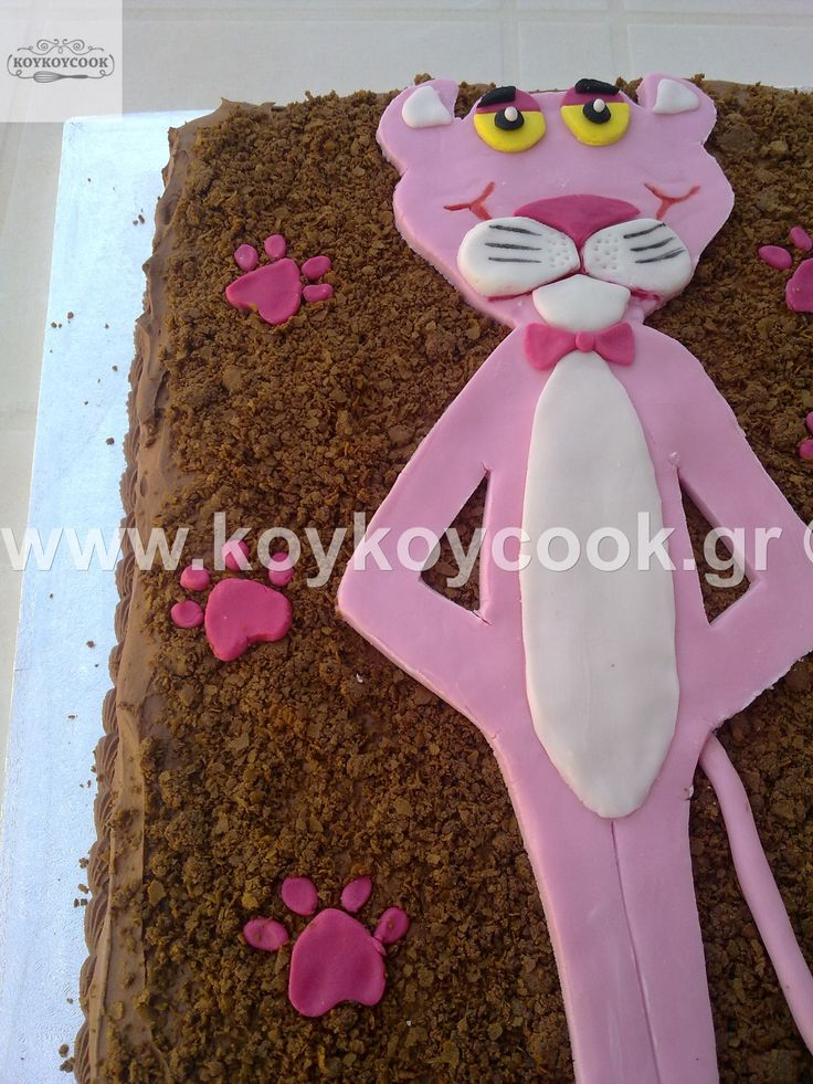 PINK PANTHER CHOCOLATE BIRTHDAY CAKE