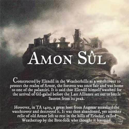 Ruins of Middle-earth: Amon Sûl #TheLordOfTheRings
