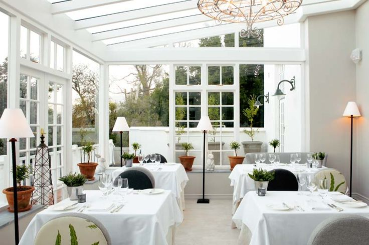 The Greenhouse Restaurant at The Cellars-Hohenort Hotel in Constantia