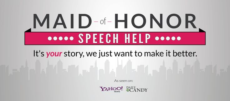 maid of honor speech help Maid of honor -how to write your maid of honor speech intro.